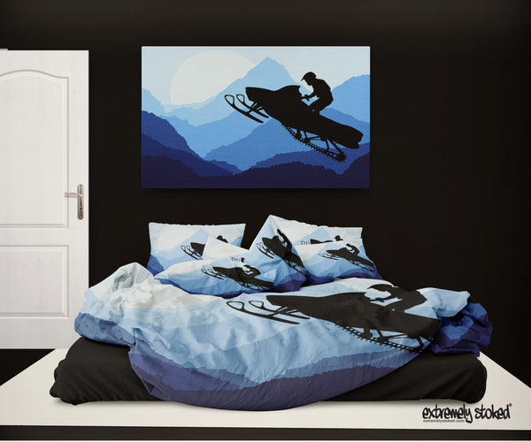 Snowmobile Comforter from Extremely Stoked Snocross and Snowmobile Bedding collection - Surf Bedding  - 2