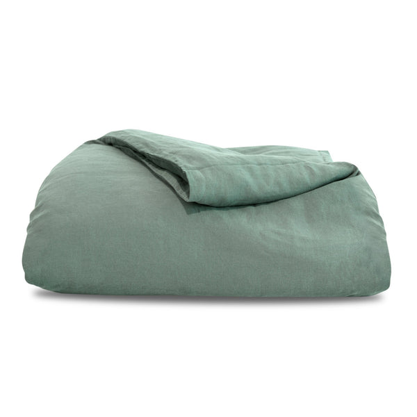 Mineral Green Hemp Duvet Cover