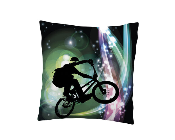 IN THE FLOW BMX THROW PILLOW FROM EXTREMELY STOKED