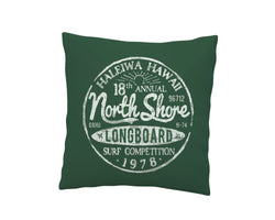 Green North Shore Haleiwa, Hawaii Throw Pillow Cover