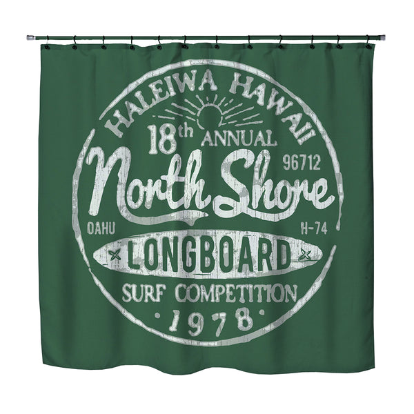 Haleiwa, Hawaii North Shore Green Shower Curtain