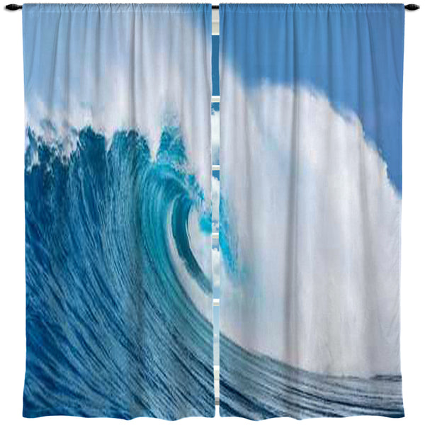 SURFER OCEAN WAVE CURTAINS