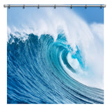 OCEAN WAVE SHOWER CURTAIN FROM EXTREMELY STOKED SURFER BEDDING COLLECTION