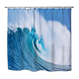 OCEAN WAVE SURF SHOWER CURTAIN FROM EXTREMELY STOKED SURFER BEDDING COLLECTION