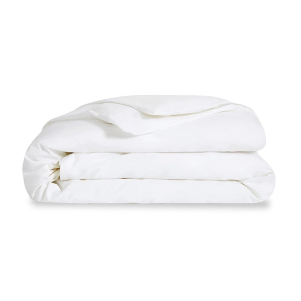Organic White Cotton Queen Duvet Cover