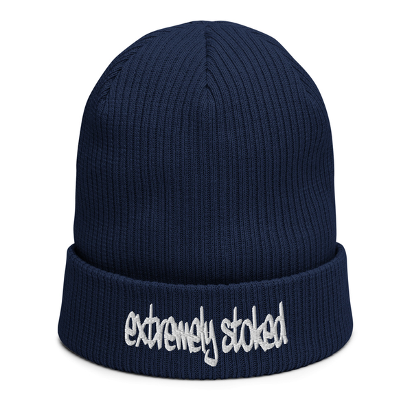 EXTREMELY STOKED ORGANIC NAVY BLUE BEANIE