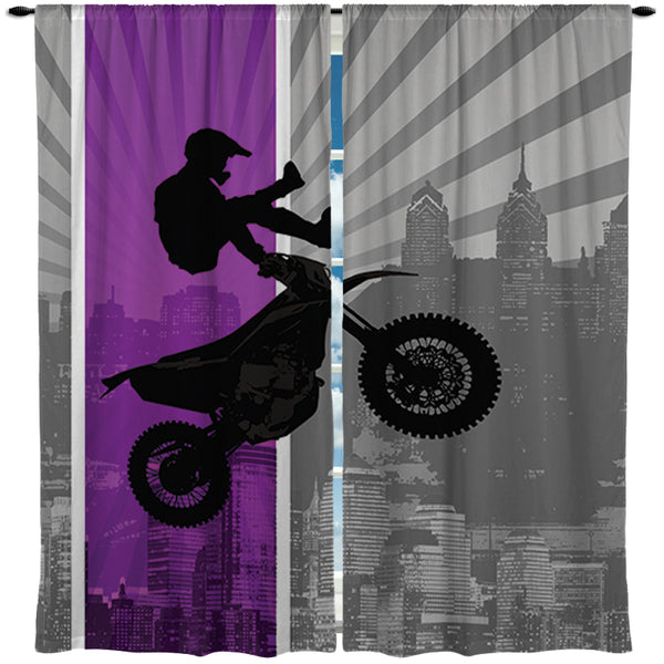 purple motocross curtains