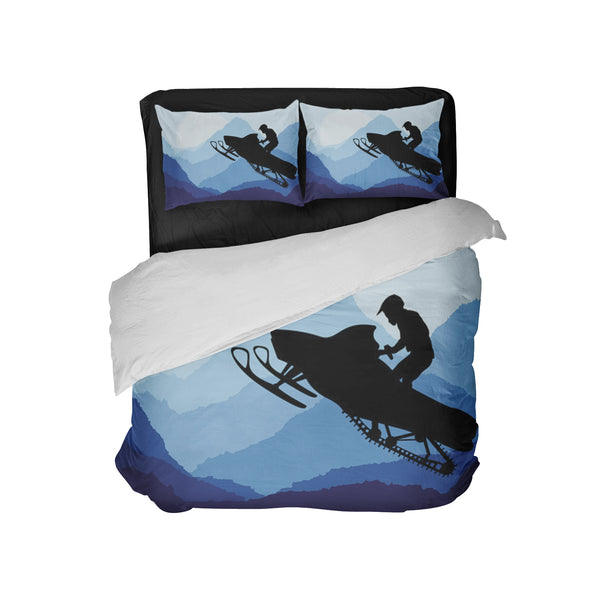 Snowmobile Pillowcases with Comforter