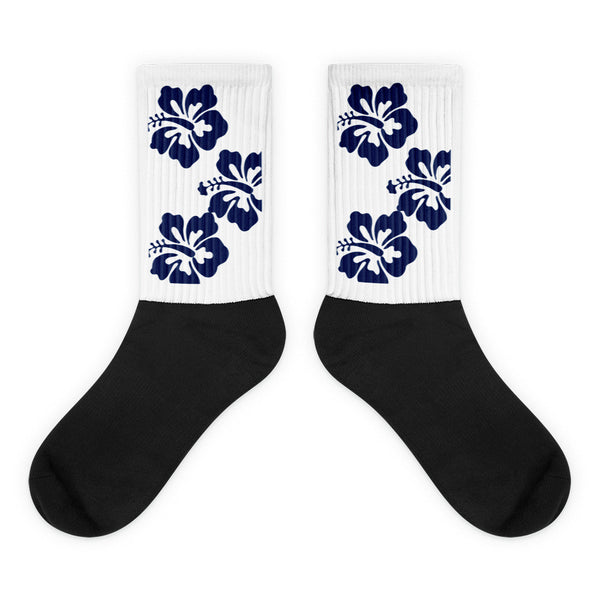 Blue Hibiscus Socks from Extremely Stoked Surf