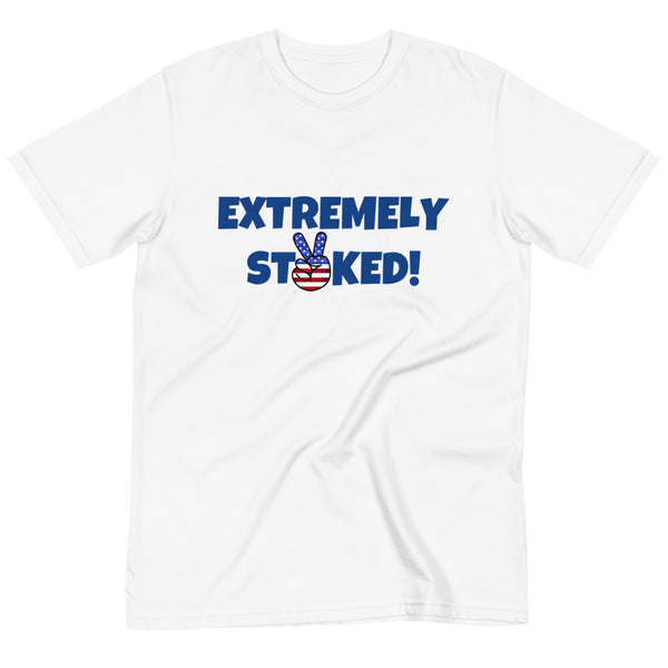 Extremely Stoked Peace Sign USA Organic T-Shirt