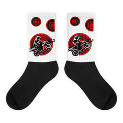 "Motocross Socks Red ""MX Rider"" from Extremely Stoked"