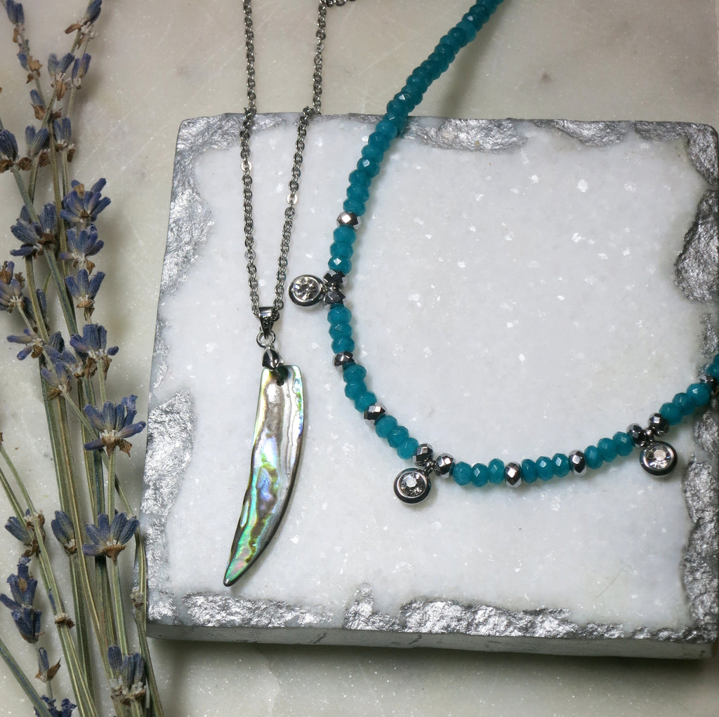 Spiritual Semi-Precious Jewelry - Blue Jade Necklaces