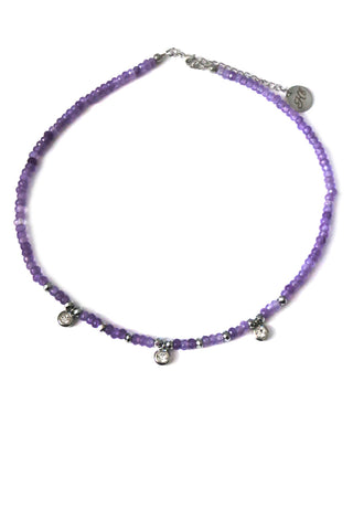 Jade choker necklace - violet