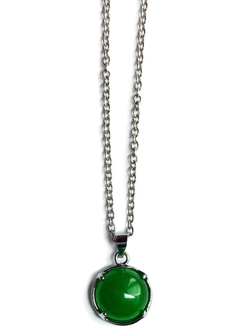 Green Jade Gemstone - Good Luck Pendant