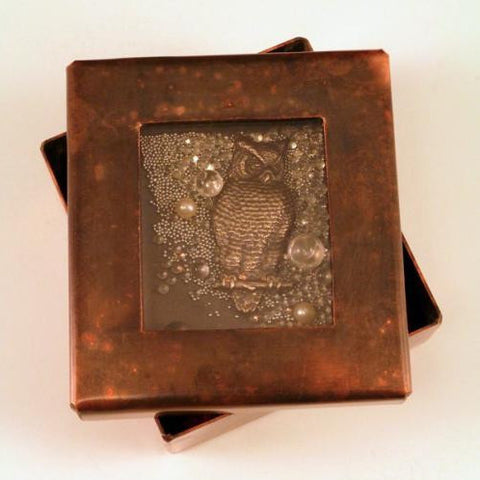 Owl Toy Copper Reliquary Boxes