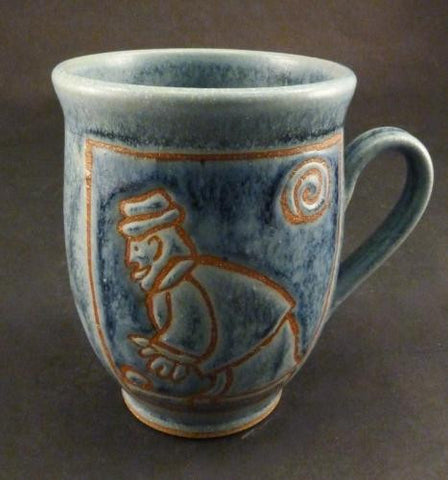 Medium Mug in Blue Man & Bocce