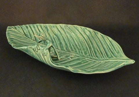 Leaf Candy Dish with Frog