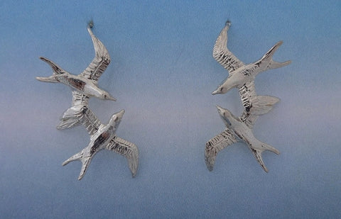 Double Swallow Earrings on French Wire