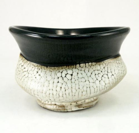 Small Tea Bowl in Crawl Glaze