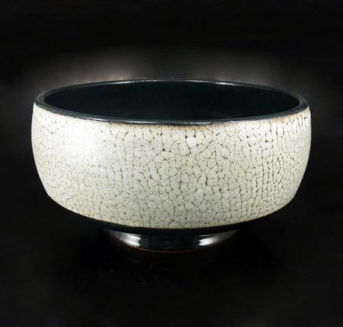 Small Footed Bowl in Crawl Glaze