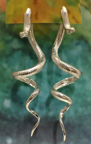 Large Snake Earrings (Two Part)