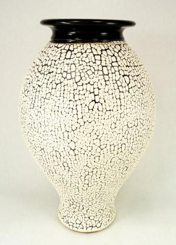 Large Vase in Crawl Glaze
