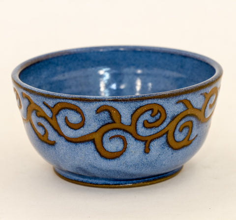 Small Blue Bowl in Resist
