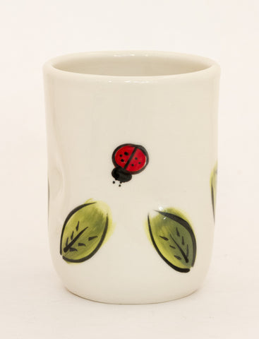 Ladybug Cup with Leaves