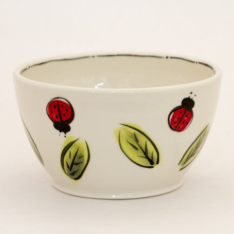 Medium Bowl with Ladybugs