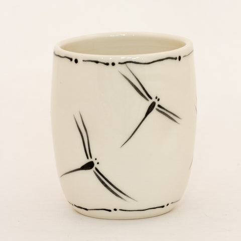 Dragonfly Cup with Deco Rim
