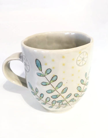 Jade Leaves with Celadon Mug