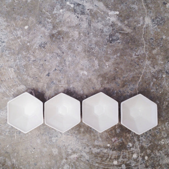 Ivory Hexagon Bowl