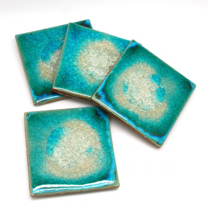 Coaster Set in Seafoam