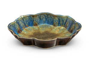 Scalloped Dish (Amber Blue)