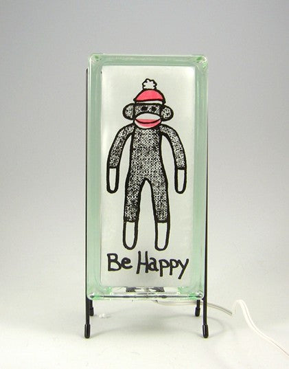 """Be Happy"" GlowBlock Lamp"