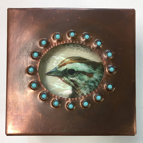 Bird Head Jeweled Reliquary Box