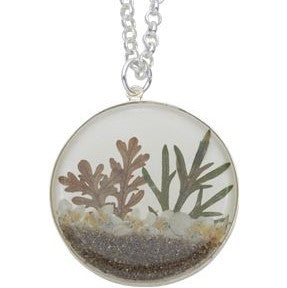 Medium Round Succulent Sand Necklace