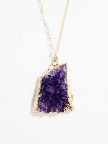 Large Amethyst Cluster Necklace