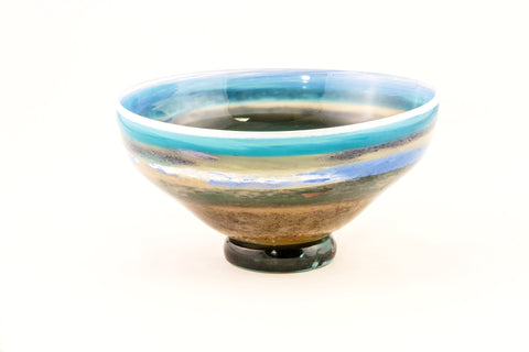 Large Bowl in Blue and Green