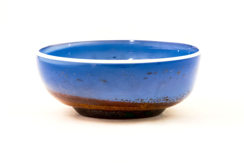 Small Blue Bowl with Peach Interior