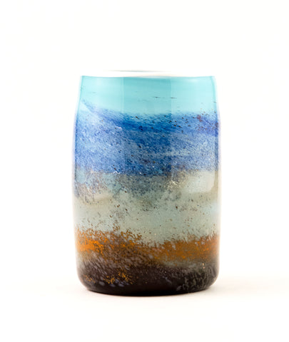 Small Vase in Shades of Blue