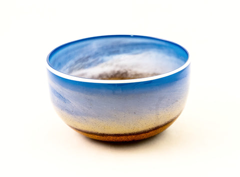 Large Bowl in Blue and Yellow in the Landscape Series
