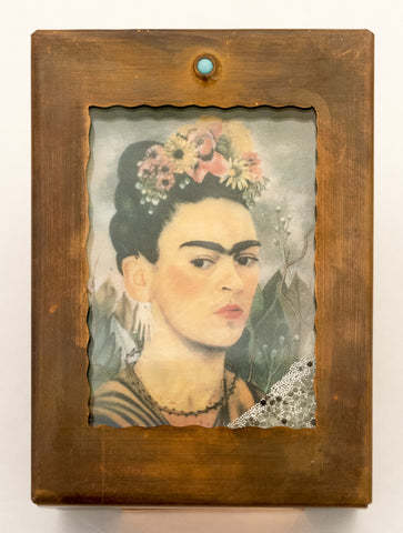 Frida Kahlo Copper Reliquary Box