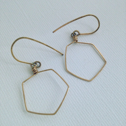 Hex Earrings (Gold Fill)