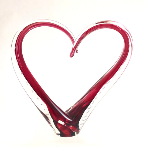 Small Love Sculpture in Red