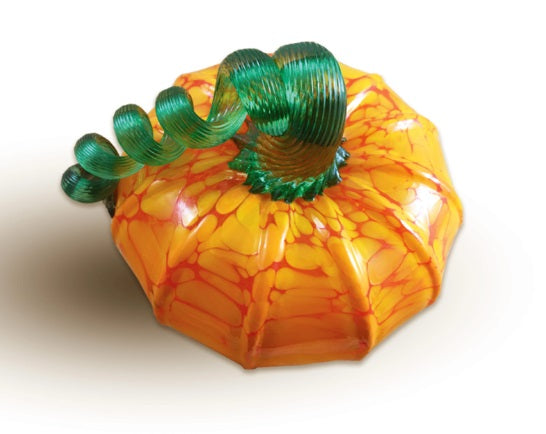 Squat Glass Pumpkin (Assorted)