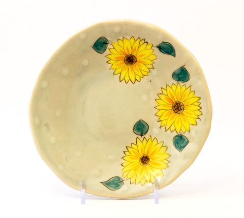 Small Plate with Sunflowers