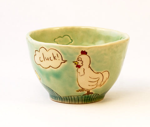 Chicken Bowl on Mint Green
