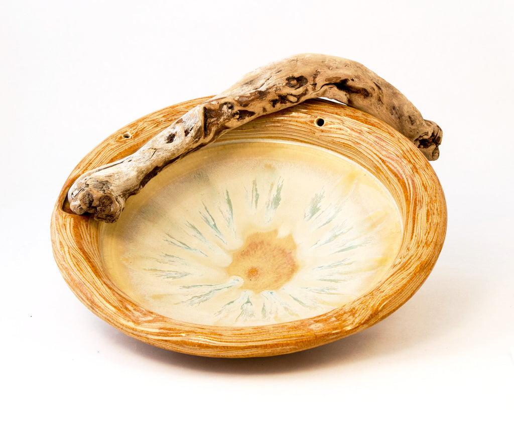 Carved Tree Bark Driftwood Bowl