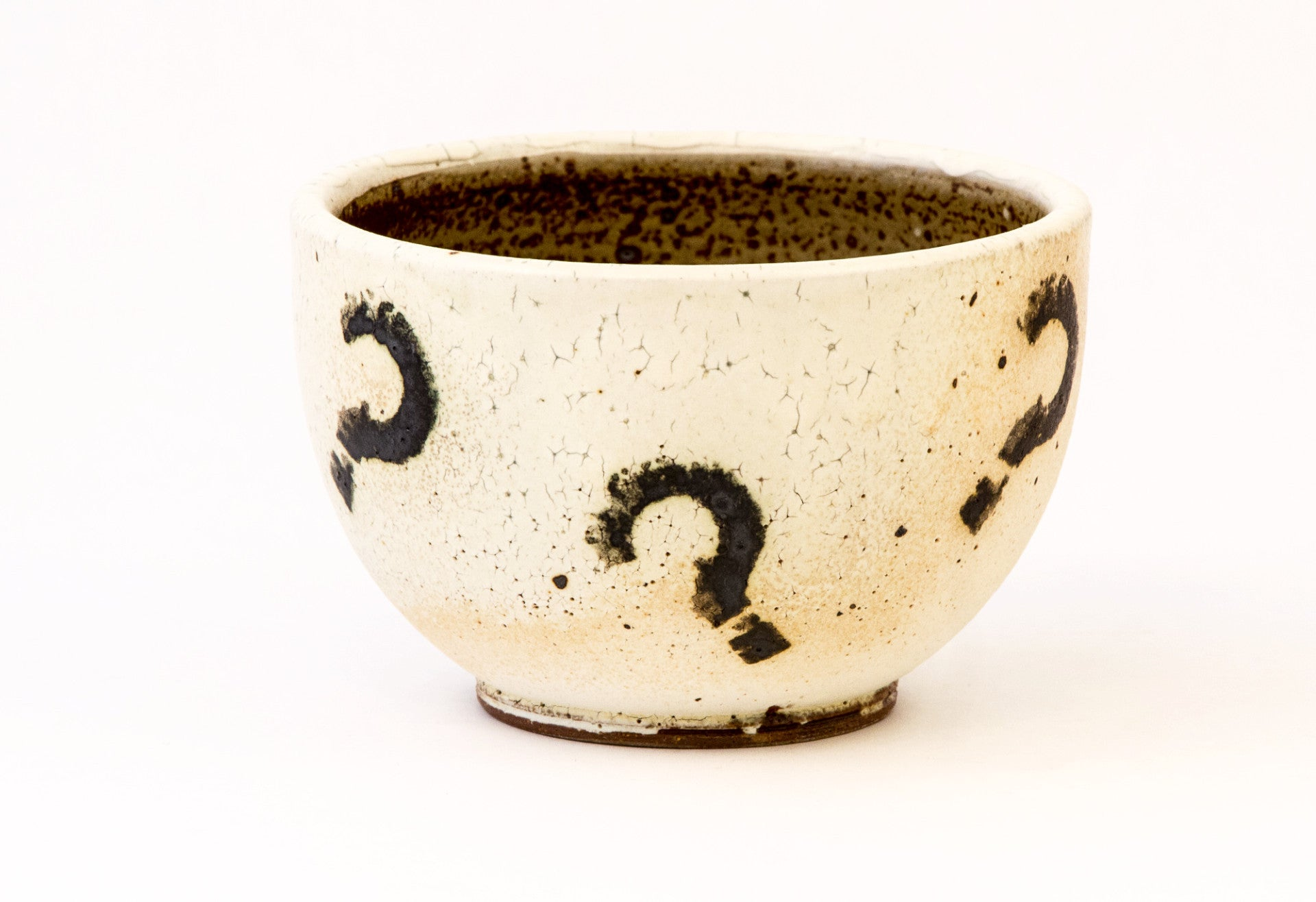 White Bowl with Question Marks